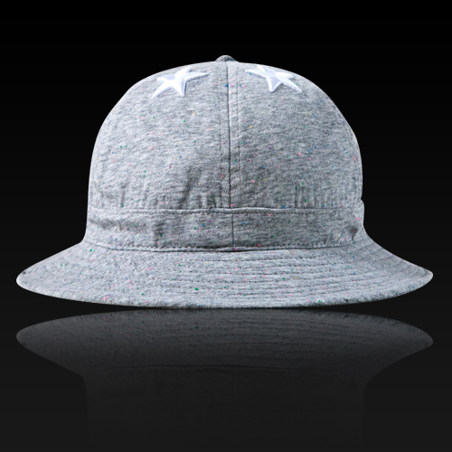 [HATer] 헤이터 버킷햇 Six Stars with Multi Colored nep Grey Bucket Hat - 풋셀스토어