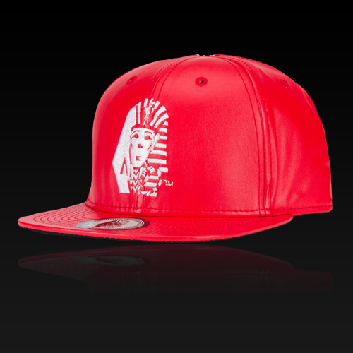 [LASTKINGS] 라스트킹스 스냅백 OG Tut Faux Leather Snapback (Red)
