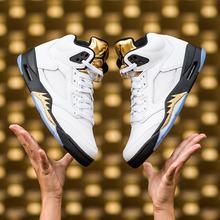 조던5 레트로 골드텅, Air Jordan 5 Retro GOLD TONGUE, 136027-133, 조던5 올림픽, 조던5 메탈릭골드