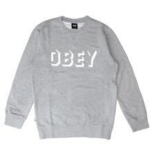 [오베이] OBEY DROPOUT CREW (HEATHER GREY) [111600061-HEA]