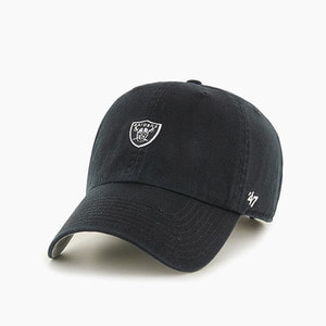 [47BRAND] NFL Abate Clean Up Raiders Black 스트랩백 볼캡 - 풋셀스토어