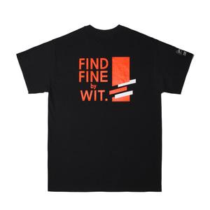 [위티나트] Foosell x FFBW 사선로고 쇼트 슬리브 티셔츠 블랙 / Footsell x FFBW DIAGONAL LOGO S/SLV T-SHIRT black - 풋셀스토어