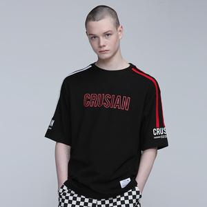 [핑크크루시안] 비잉 레코디드 배색 티셔츠 PCB2TS009 (남녀공용) - 풋셀스토어