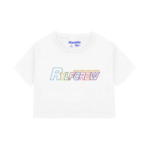 [로얄라이프] RLCR202 레인보우 스트로크 로고 크롭 티 - 3컬러 - 풋셀스토어