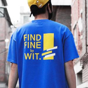 [위티나트] FFBW 사선로고 쇼트 슬리브 티셔츠 블루 / FFBW DIAGONAL LOGO SSV T-SHIRT blue - 풋셀스토어