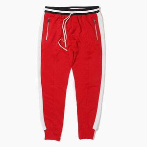 [하이퍼데님] HYPER DENIM Track Zipper Jogger Red - 풋셀스토어