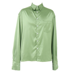 [COUPDEGRACE] CDG SILKY POLY SHIRT (APPLE GREEN), 쿠드그라스 - 풋셀스토어