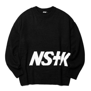 네스티킥, NSTK STANDING KNIT BLACK (NK18A001H) - 풋셀스토어