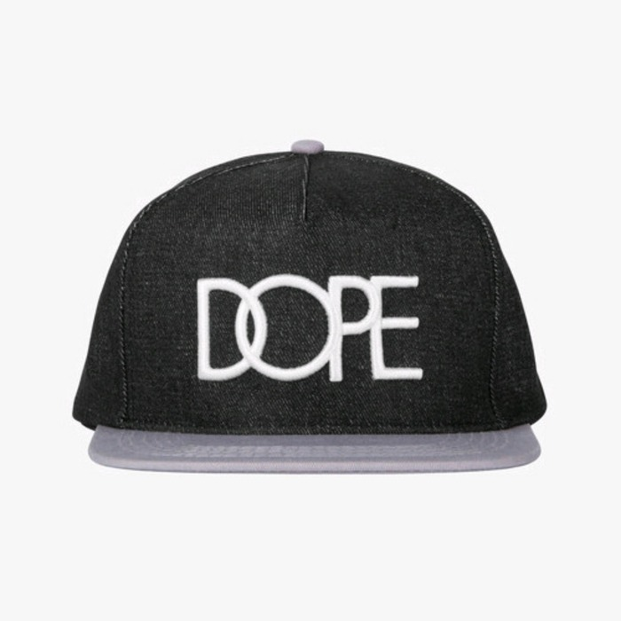 [도프]DOPE Denim Logo Snapback (Light Grey) - 풋셀스토어