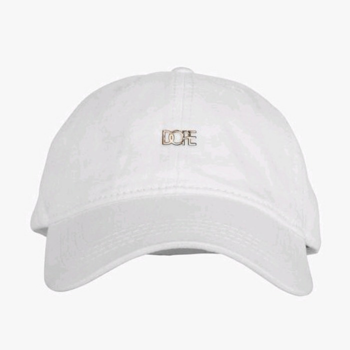 [도프]DOPE Leather Micro Logo Cap (White) - 풋셀스토어
