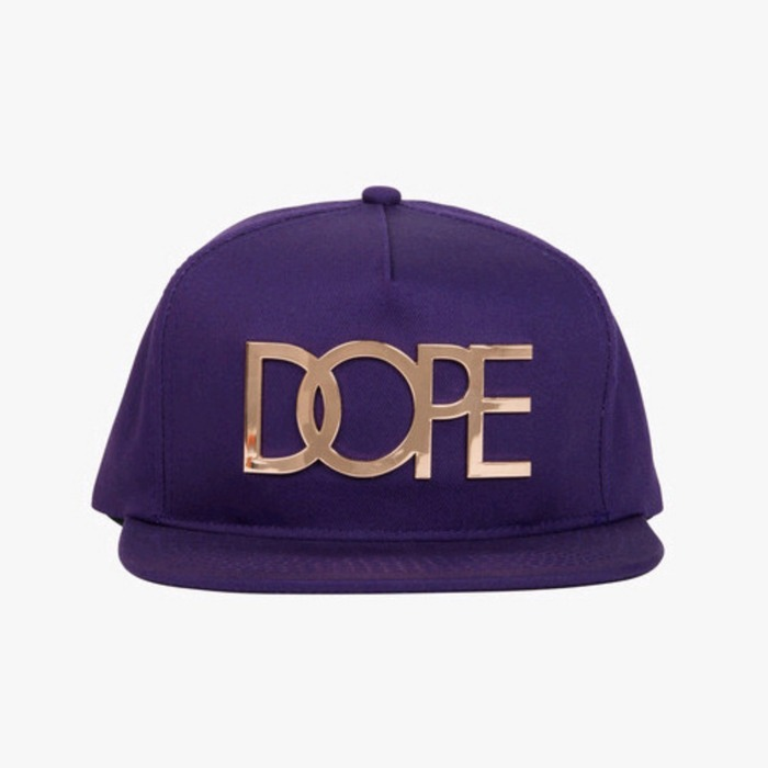 [도프]DOPE Gold Logo Snapback (Dark Purple) - 풋셀스토어