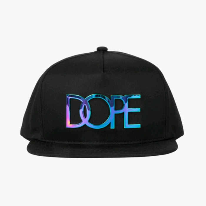 [도프]DOPE Neo Chrome Logo Snapback (Black) - 풋셀스토어
