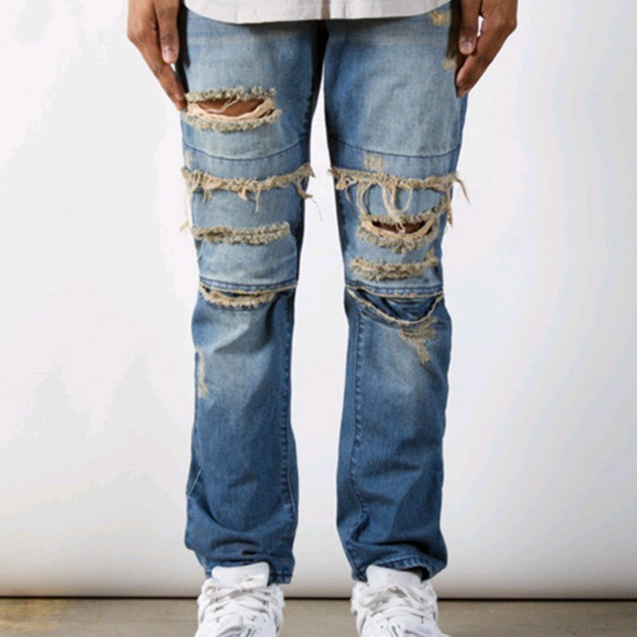 [러스틱다임]RUSTIC DIME DIME DENIM (Dirty Ripped Indigo) - 풋셀스토어