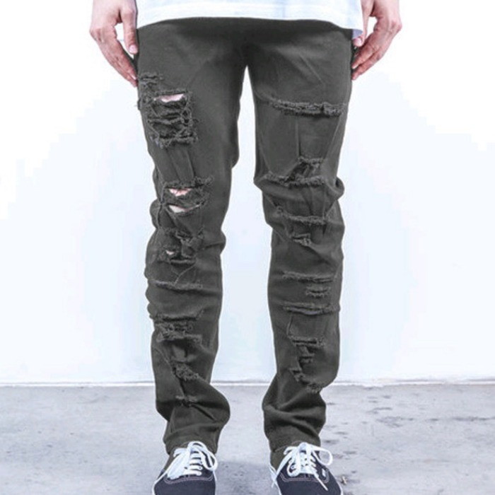[러스틱다임]RUSTIC DIME TAPER FIT SHREDDED (CHARCOAL SHREDDED) - 풋셀스토어