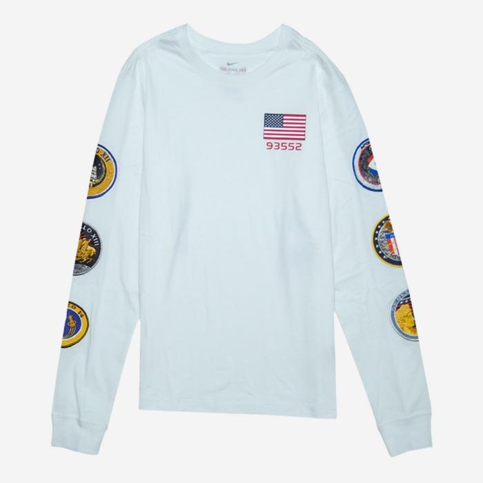 나이키 폴조지3 x NASA 스페이스 긴팔티 BQ7535-100 남성티셔츠 - 풋셀스토어