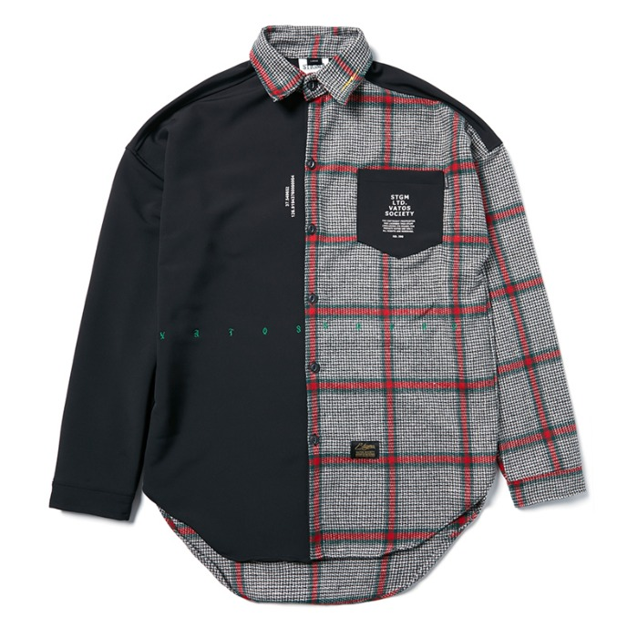 스티그마 STIGMA SNAKE OVERSIZED CHECK SHIRTS BLACK - 풋셀스토어