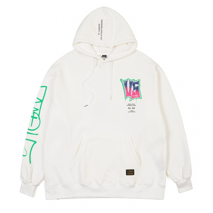 스티그마 STIGMA GRAFFITI OVERSIZED HEAVY SWEAT HOODIE WHITE - 풋셀스토어