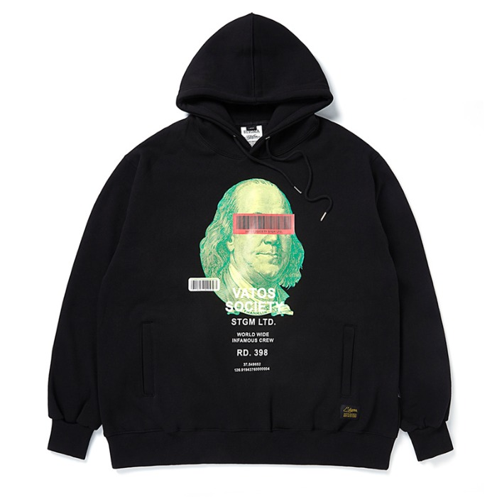 스티그마 STIGMA B.F OVERSIZED HEAVY SWEAT HOODIE BLACK - 풋셀스토어