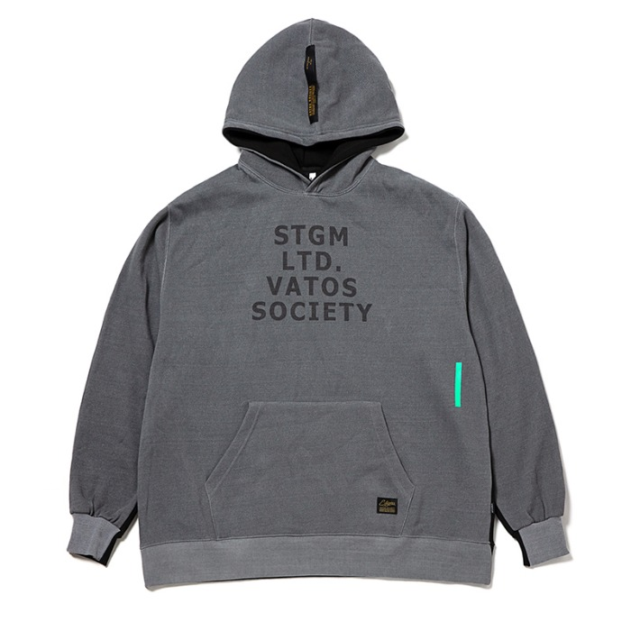 스티그마 STIGMA PRESS OVERSIZED OVERSIZED HEAVY SWEAT HOODIE GREY - 풋셀스토어