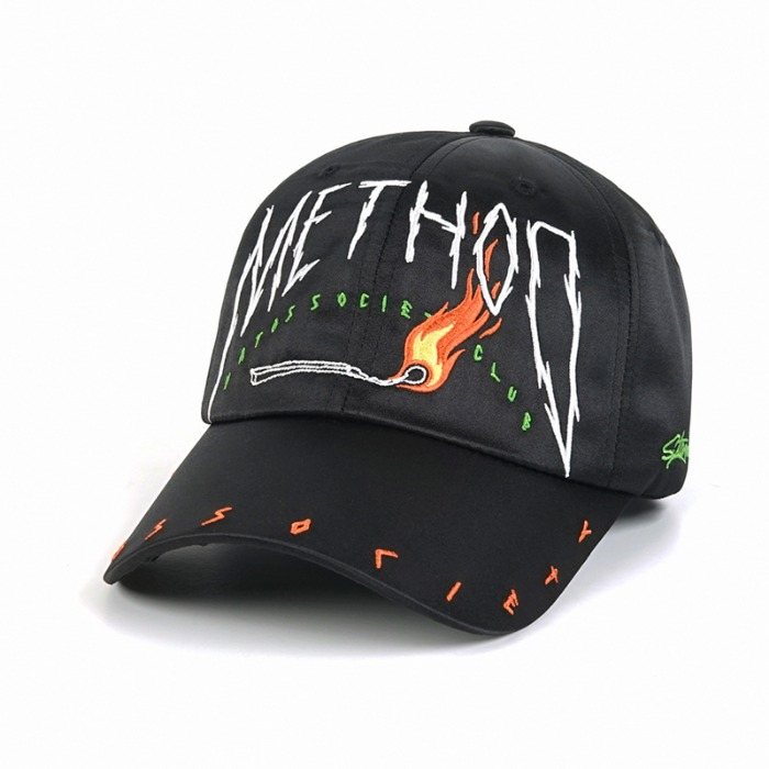 스티그마 STIGMA METHOD SATIN BASEBALL CAP BLACK - 풋셀스토어