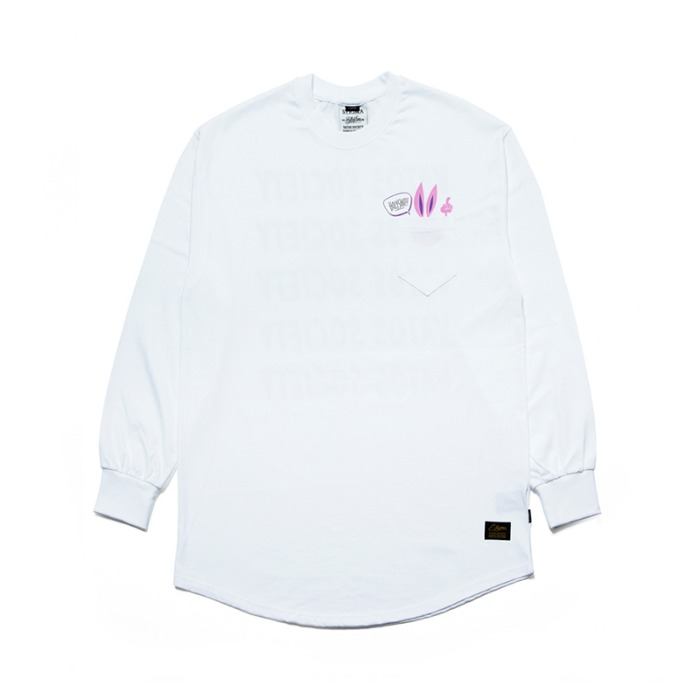 스티그마 STIGMA RABBIT GANG LAYERED LONG SLEEVES T-SHIRTS WHITE - 풋셀스토어