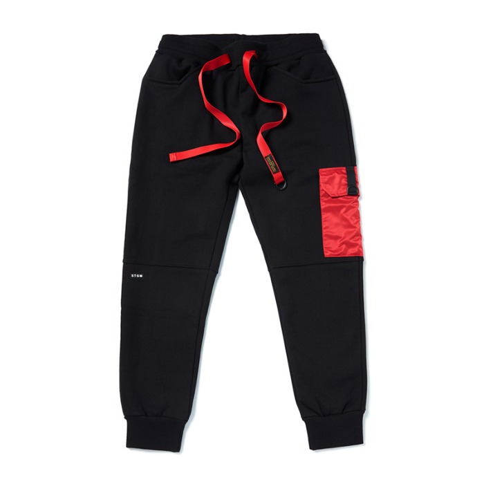 스티그마 STIGMA STGM POCKET HEAVY SWEAT JOGGER PANTS BLACK - 풋셀스토어