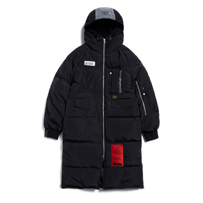 스티그마 STIGMA TIGER DUCKDOWN LONG PADDING JACKET BLACK - 풋셀스토어