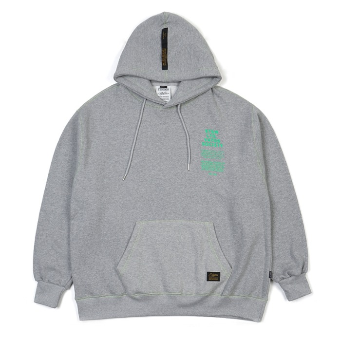 스티그마 STIGMA STITCH OVERSIZED HEAVY SWEAT HOODIE GREY - 풋셀스토어