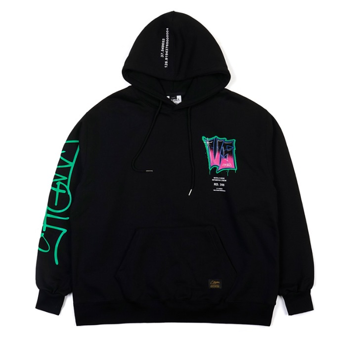 스티그마 STIGMA GRAFFITI OVERSIZED HEAVY SWEAT HOODIE BLACK - 풋셀스토어