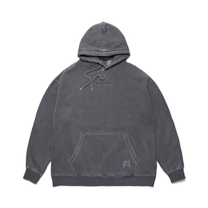 스티그마SCRAPE PIGMENT OVERSIZED HEAVY SWEAT HOODIE DARK GREY - 풋셀스토어