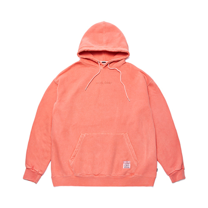 스티그마SCRAPE PIGMENT OVERSIZED HEAVY SWEAT HOODIE ORANGE - 풋셀스토어