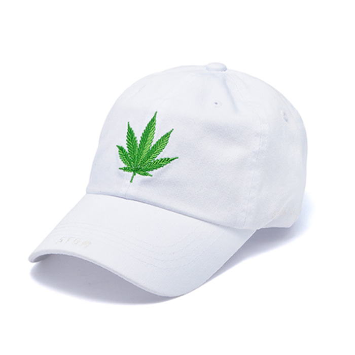 스티그마LEAF WASHED BASEBALL CAP WHITE - 풋셀스토어