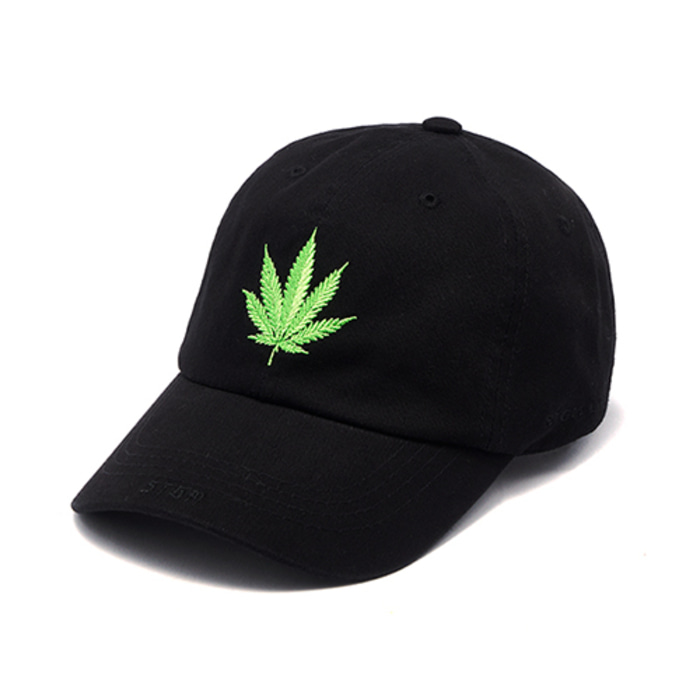 스티그마LEAF WASHED BASEBALL CAP BLACK - 풋셀스토어