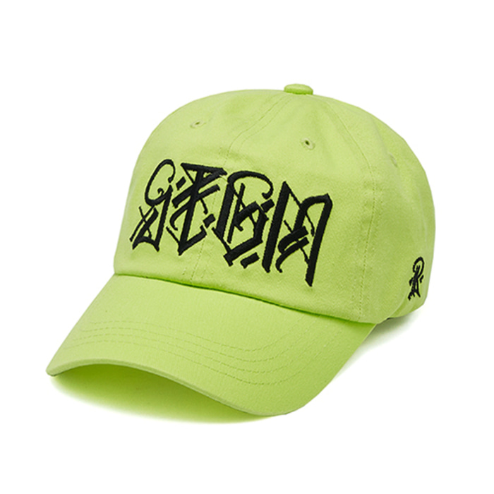 스티그마PLUMB WASHED BASEBALL CAP NEON GREEN - 풋셀스토어
