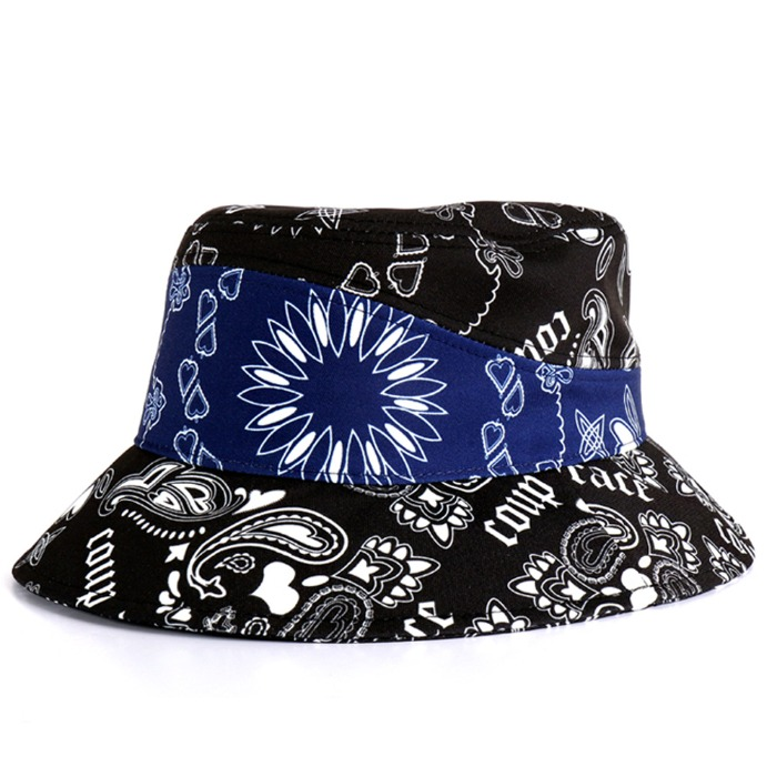 [쿠드그라스] COUP DE GRACE PAISLEY BUCKET HAT NAVY - 풋셀스토어