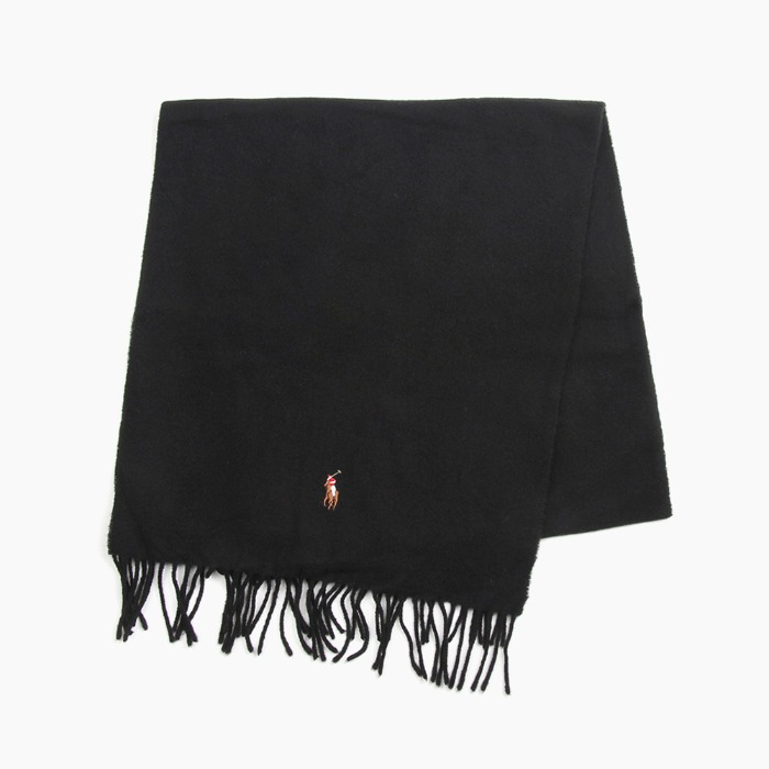 [폴로] POLO Signature Italian Virgin Wool Scarf Black 스카프 목도리 - 풋셀스토어