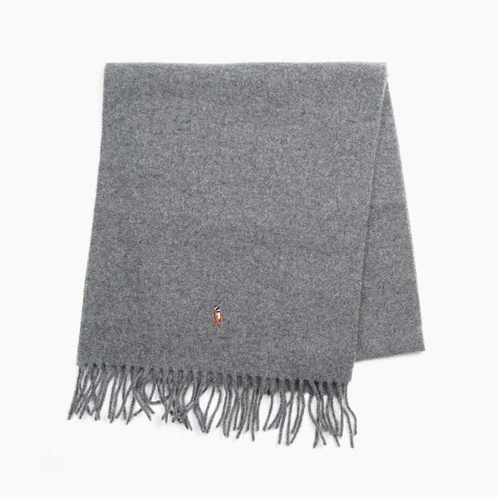 [폴로] POLO Signature Italian Virgin Wool Scarf Grey 스카프 목도리 - 풋셀스토어