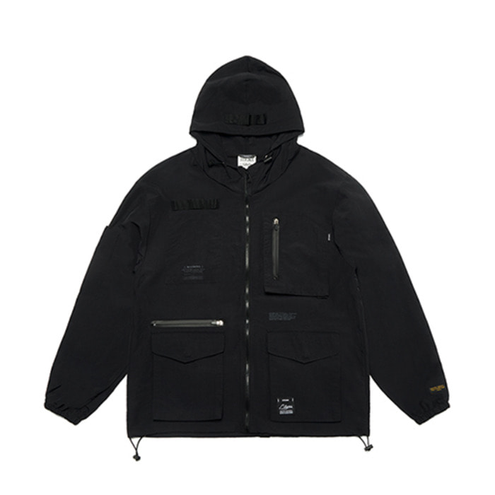스티그마S TECH WINDBREAKER JACKET BLACK - 풋셀스토어
