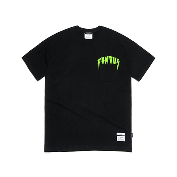 스티그마FAMOUS RABBIT T-SHIRTS BLACK - 풋셀스토어
