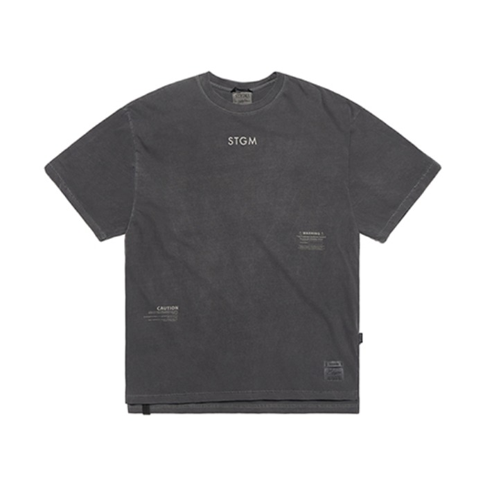 스티그마INFAMOUS PIGMENT OVERSIZED T-SHIRTS DARK GREY - 풋셀스토어