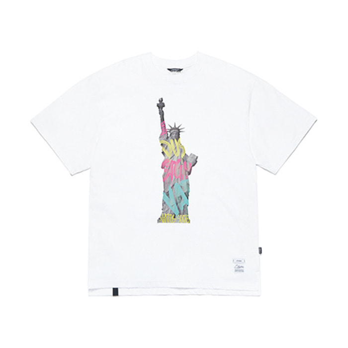 스티그마LIBERTY OVERSIZED T-SHIRTS WHITE - 풋셀스토어