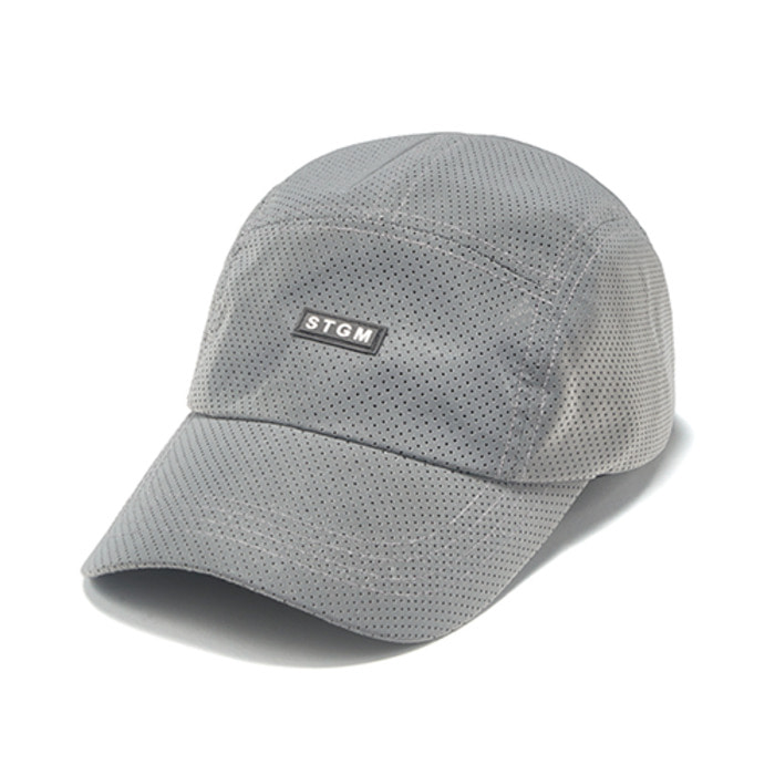 스티그마REFLECTIVE PUNCHED RUBBER CAMP CAP GREY - 풋셀스토어