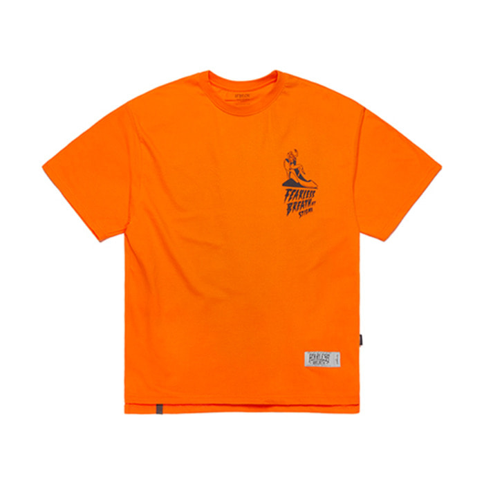 스티그마FB OVERSIZED T-SHIRTS ORANGE - 풋셀스토어