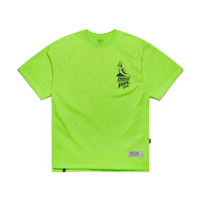 스티그마FB OVERSIZED T-SHIRTS NEON GREEN - 풋셀스토어