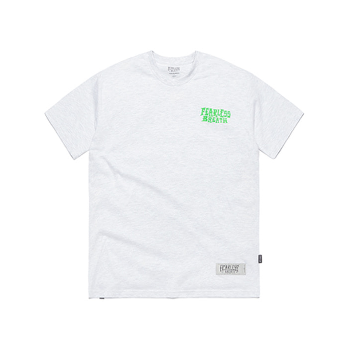 스티그마PALM BEACH T-SHIRTS WHITE MELANGE - 풋셀스토어