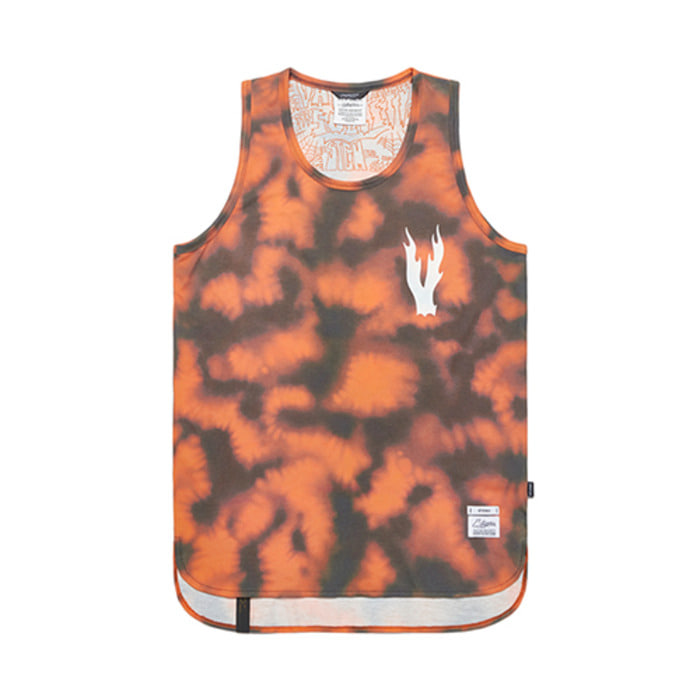 스티그마ORANGE LONG SLEEVELESS PATTERN - 풋셀스토어