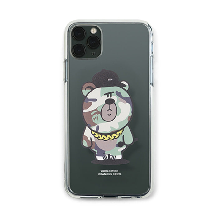 스티그마PHONE CASE CAMOUFLAGE BEAR GREEN CLEAR iPHONE 11 / 11 Pro / 11 Pro Max - 풋셀스토어