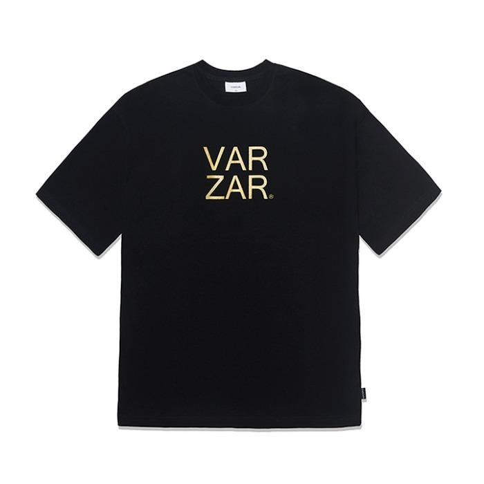 [바잘] 오리지널 골드 빅로고 반팔 티셔츠 블랙 - 풋셀스토어