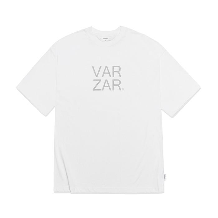 [바잘] 오리지널 실버 빅로고 반팔 티셔츠 화이트 - 풋셀스토어