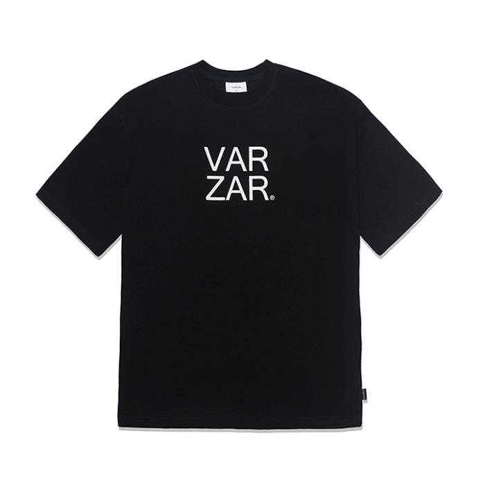 [바잘] 오리지널 화이트 빅로고 반팔 티셔츠 블랙 - 풋셀스토어